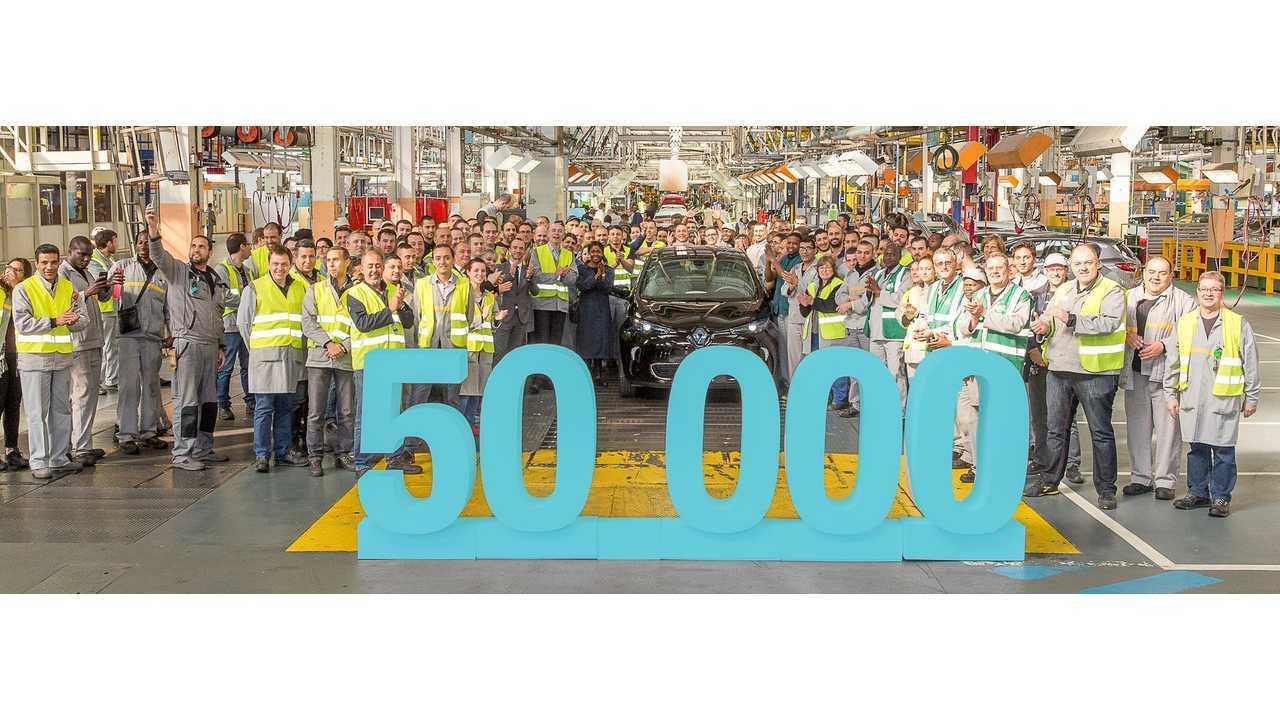 Renault Delivered 50,000th ZOE