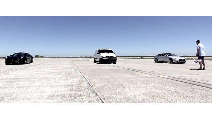 Atieva Test Powertrain Van Quicker Than Tesla, 60 In 3 Seconds (race video)