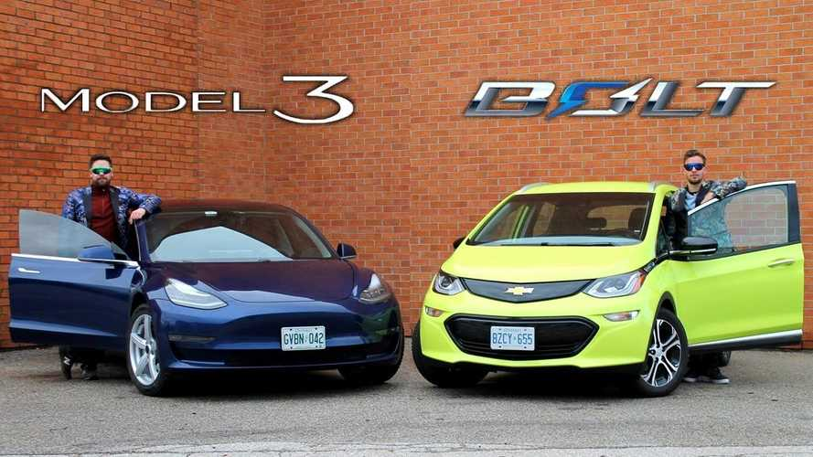 Tesla Model 3 vs Chevy Bolt EV: Throttle House Comparison Video