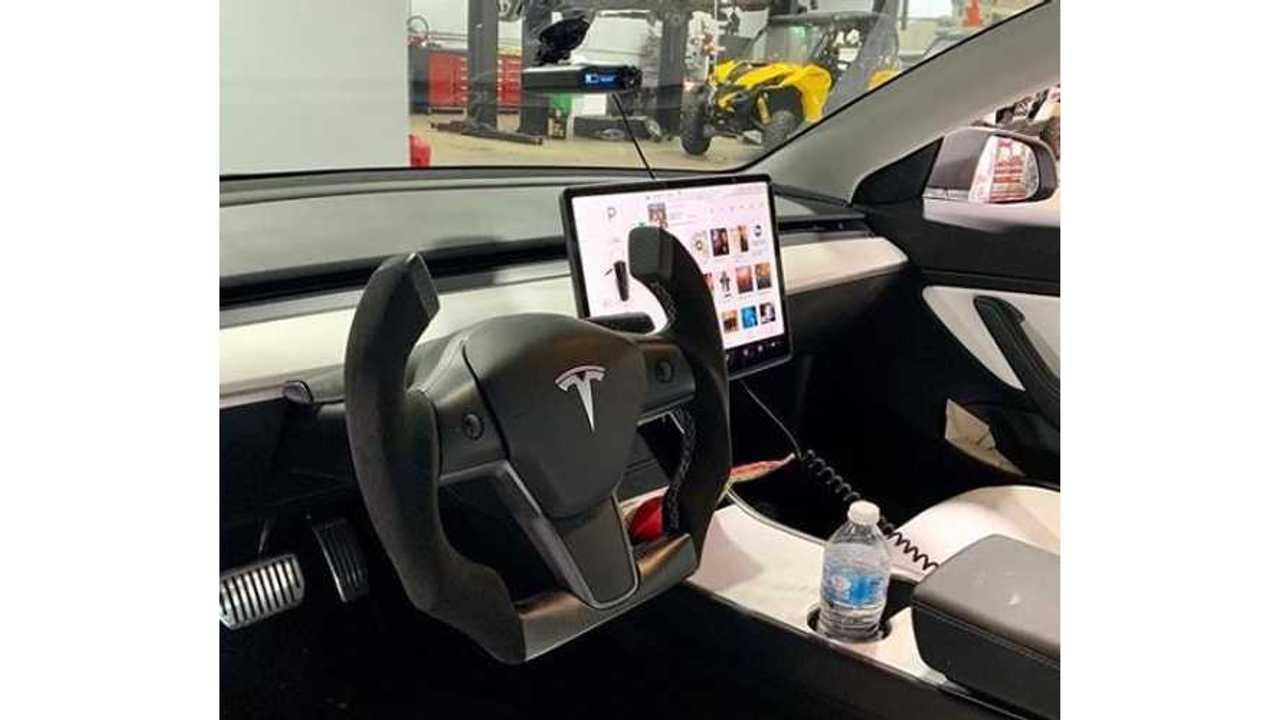 Hot Or Not? Tesla Model 3 With Roadster-Like Cut-Off Steering Wheel