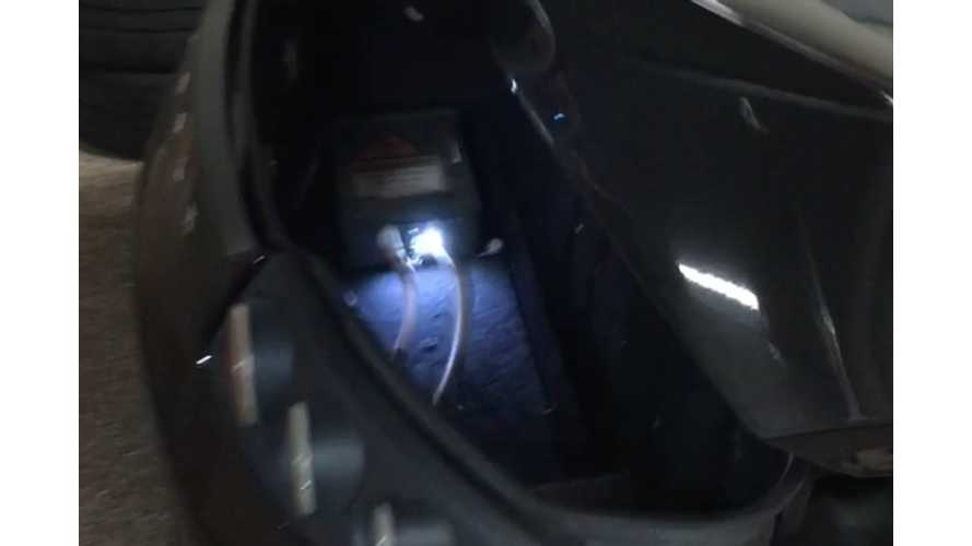 This Tesla Roadster Hides Electrifying Scare In Its Trunk