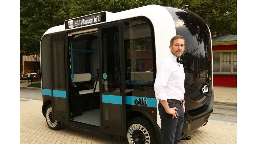 "Local Motors Debuts ""Olli"" Self-driving EV With IBM Watson Technology - Video"