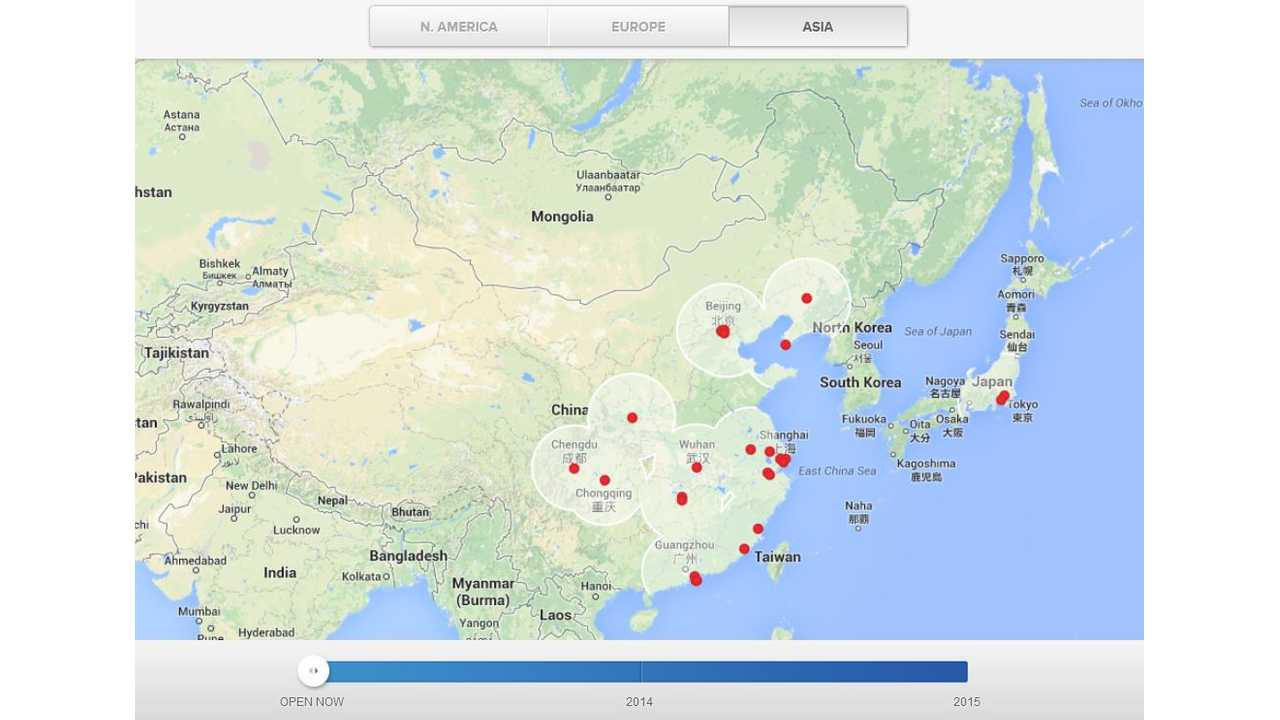 New Tesla Superchargers Popping Up Rapidly In Asia