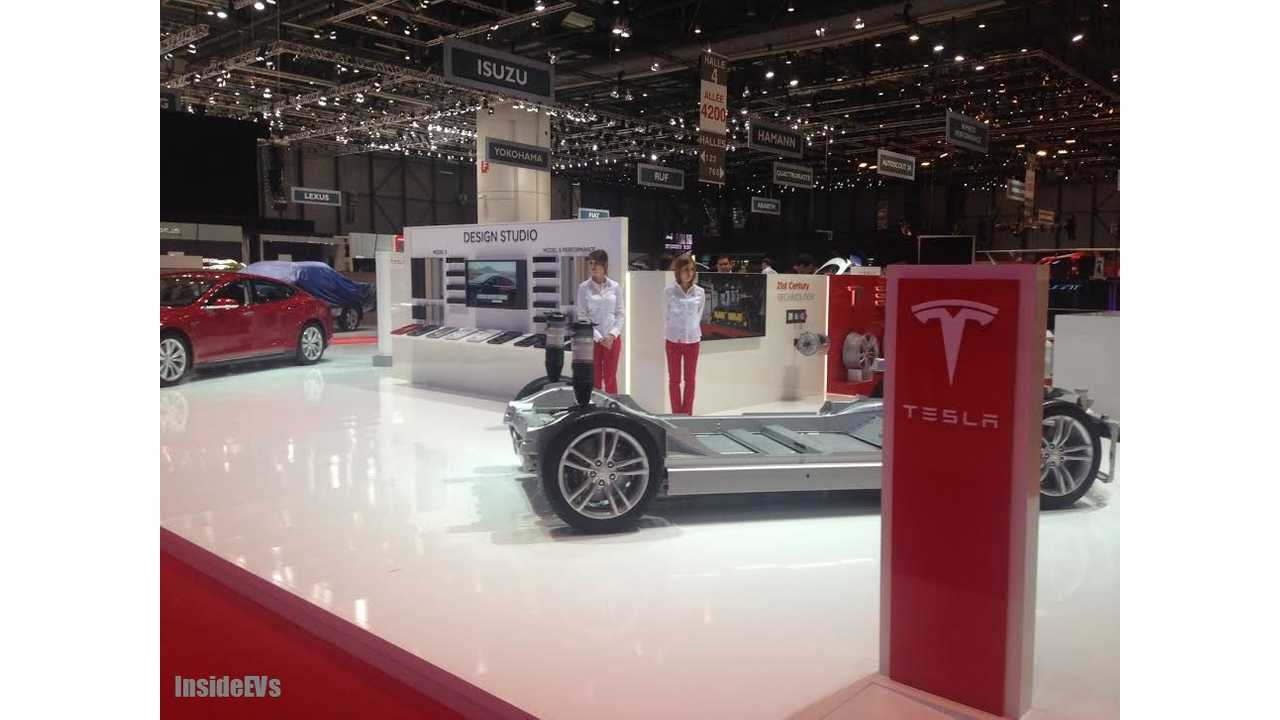 <em>Tesla Shows Off The Model S Glider And 8,000 Odd Panasonic 18650 Cells That Power The Car</em>