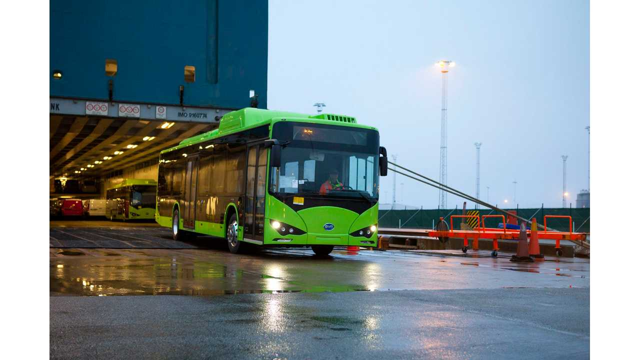 Green Electric Buses From BYD Delivered To Malmö