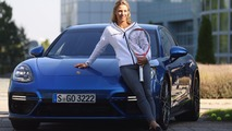 2017 Porsche Panamera Turbo with Angelique Kerber