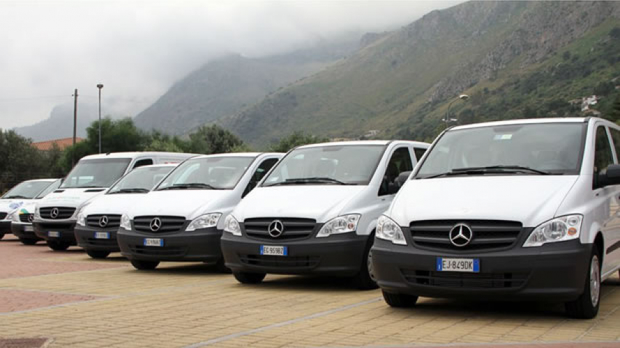 Mercedes, 100 Vito a Sicily by Car
