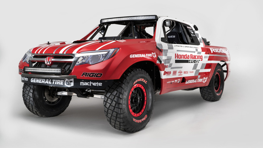 Honda Ridgeline Baja Race Truck marks the company's return to off-road racing