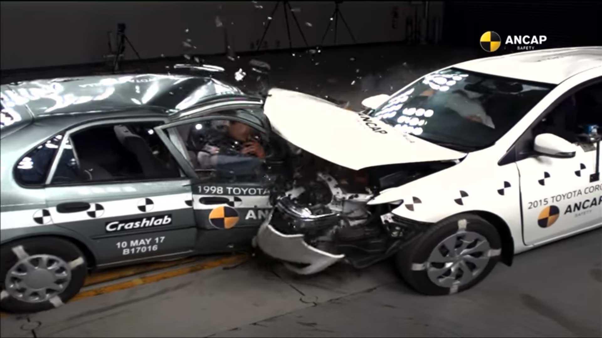 Compare Old Versus New In Shocking Toyota Corolla Crash Test Premio