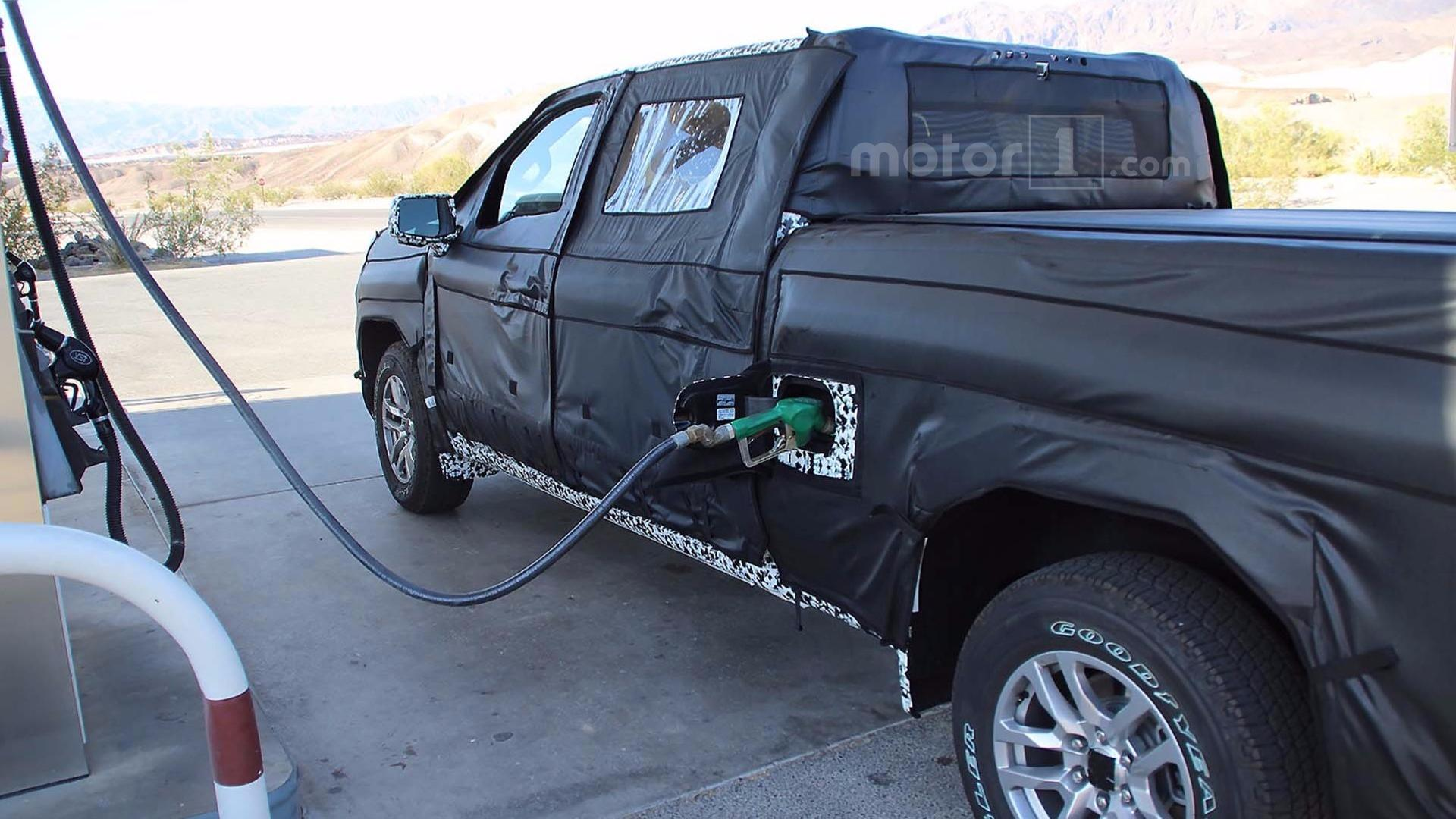 2019 Chevy Silverado Half-Ton Pickup Spied Filling Up With