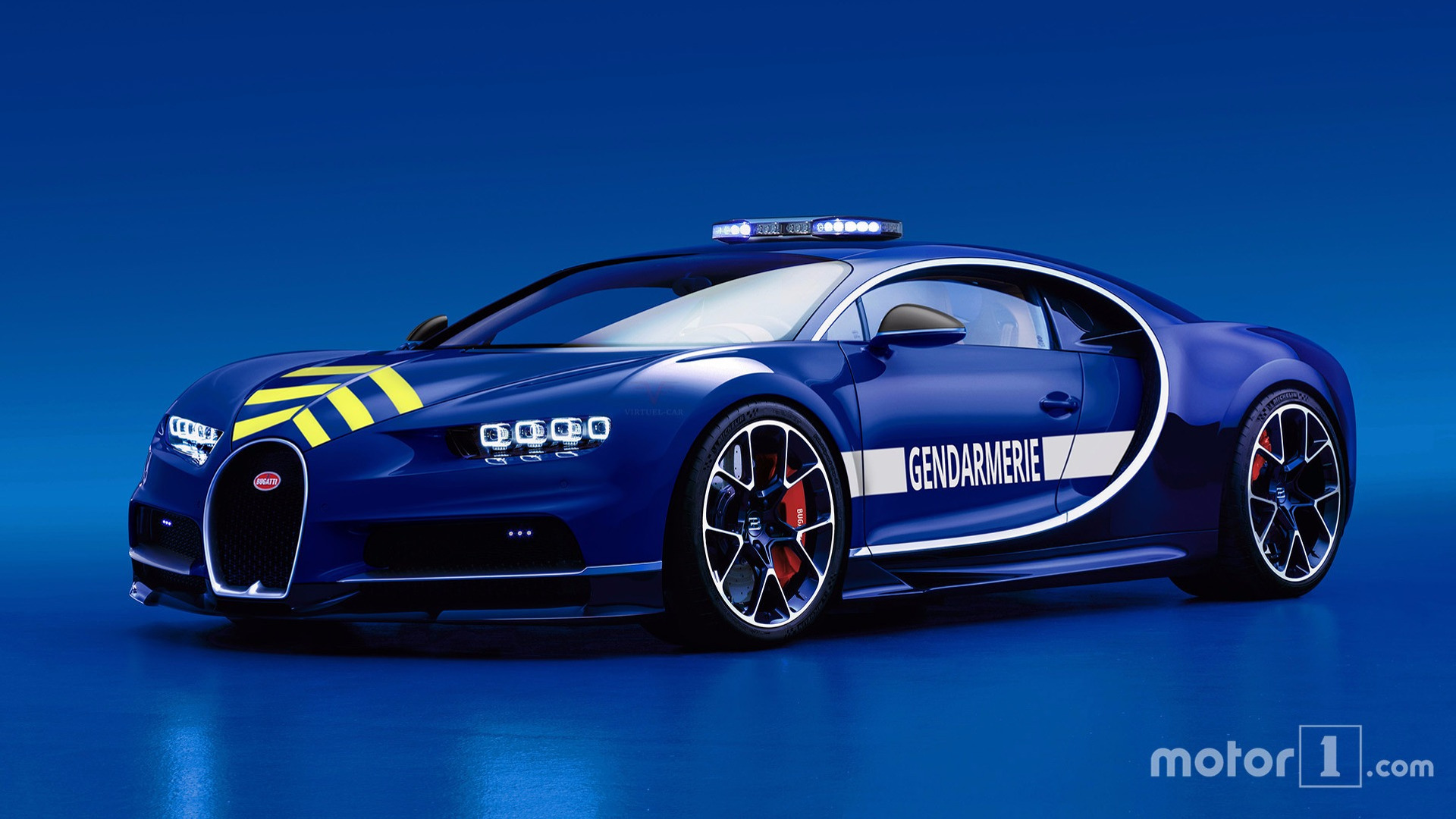 pull over, french police gifted a bugatti chiron