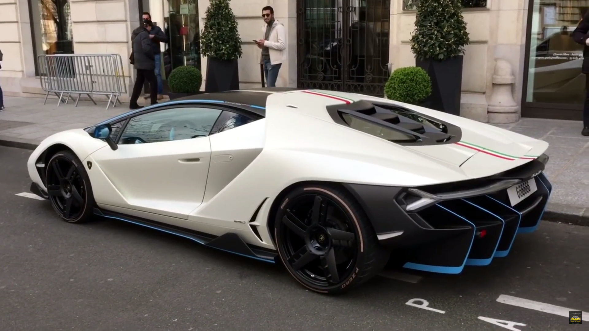 Lamborghini Centenario Gathers Crowds In Paris And London