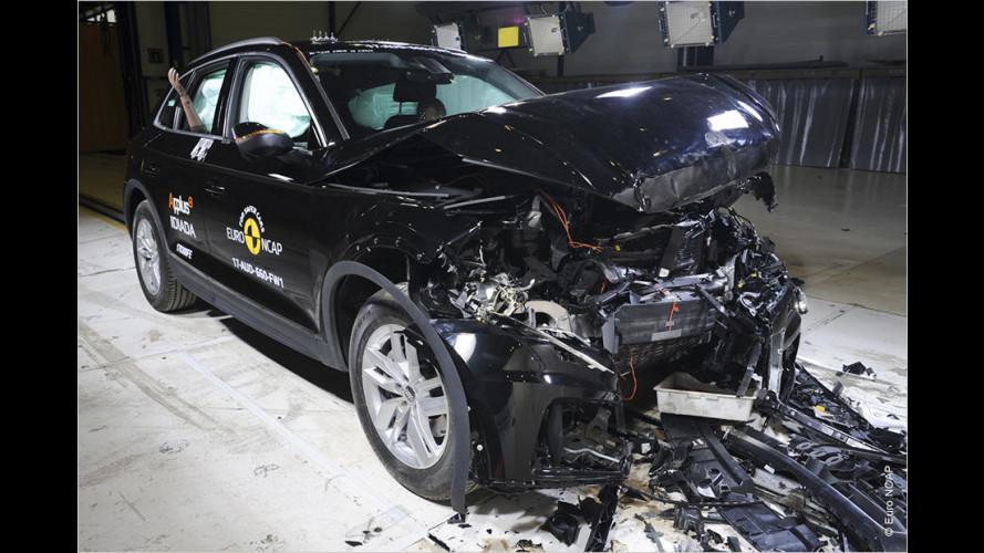 EuroNCAP-Crashtests (2017): Audi Q5, Land Rover Discovery und mehr