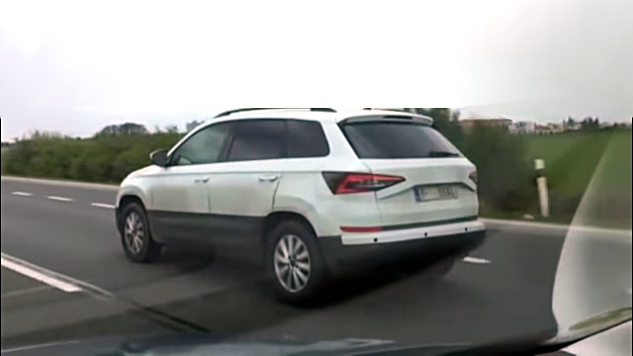 2018 Skoda Yeti screenshot from spy video