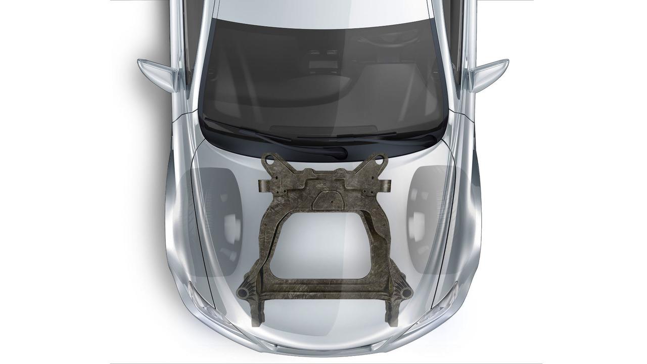 Magna carbon fiber subframe