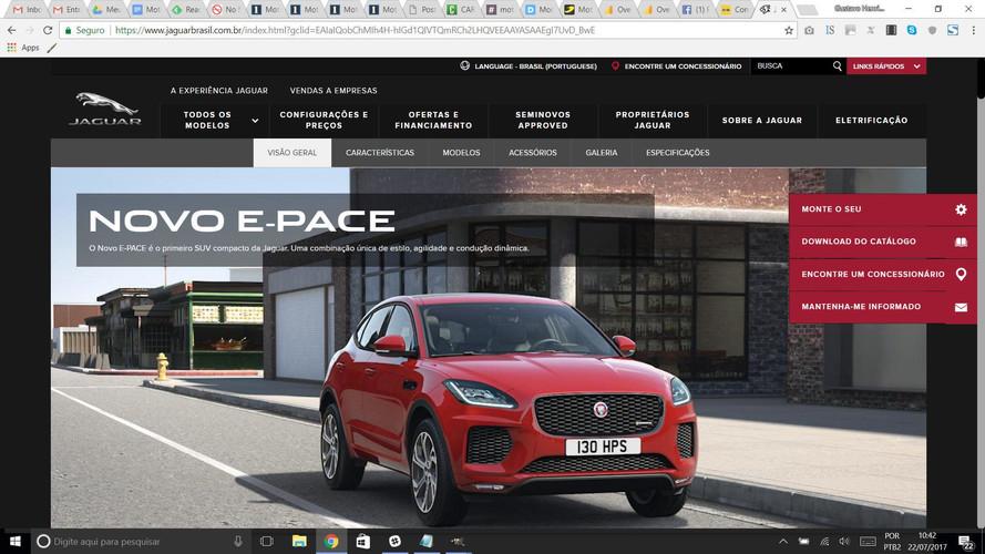 Jaguar E-Pace já tem site no Brasil, motores serão só a gasolina