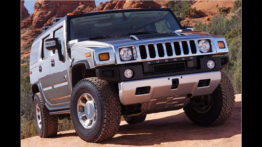 US-Power-Krebse: Hummer H2 und H3 mit neuen V8-Motoren