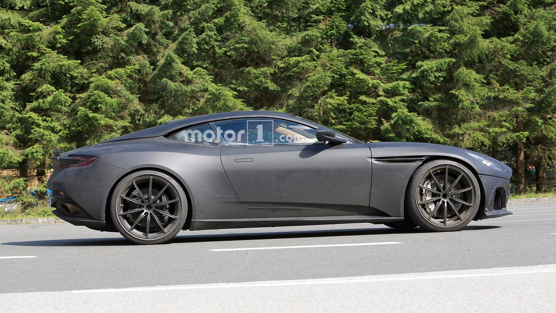 Aston Martin Db11 S Spied With Matte Black Body Lower