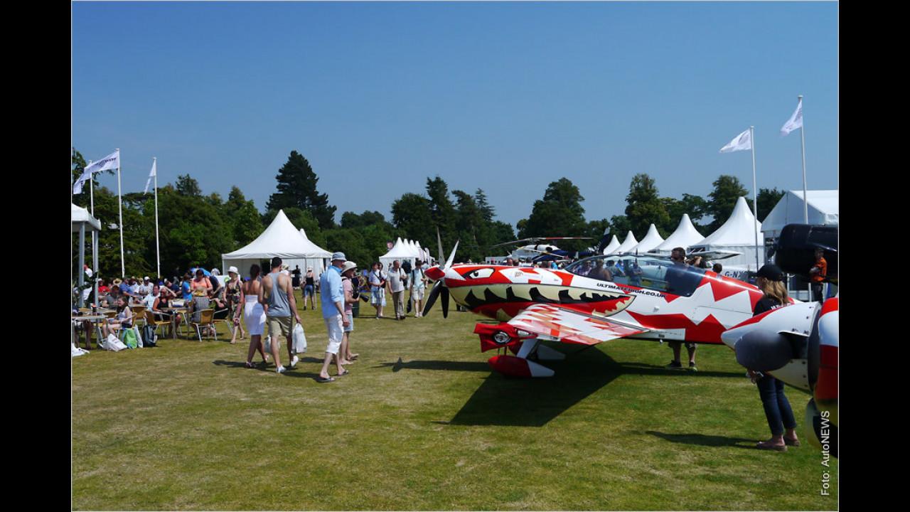 Die Flugzeuge in Goodwood