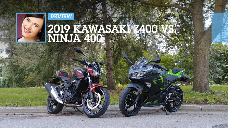 2019 Kawasaki Z400 Vs. Ninja 400 Comparison: Zippity Green
