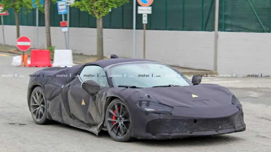2020 Ferrari hybrid supercar spy photos
