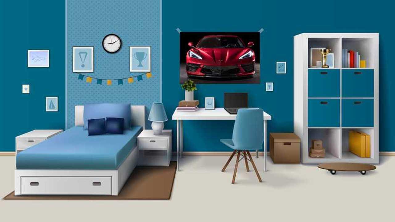 Corvette Bedroom Poster