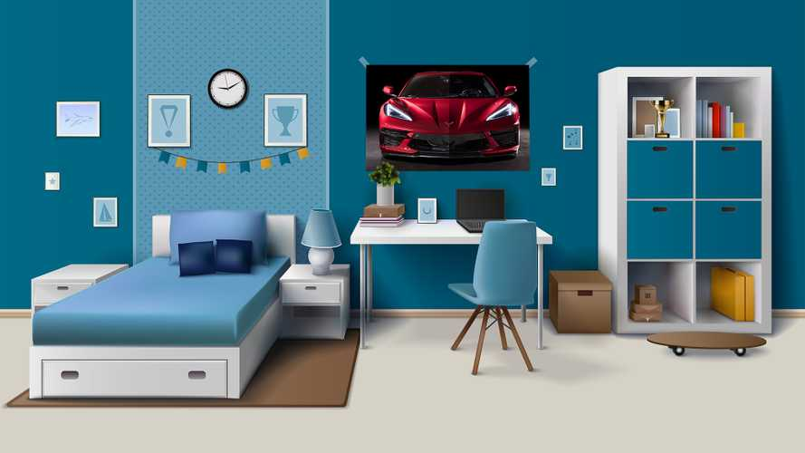 Corvette Bedroom Poster