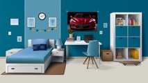 corvette designers tried bedroom poster