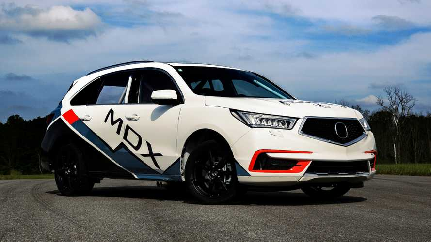 Acura built a 400-bhp MDX Sport Hybrid to race up Pikes Peak