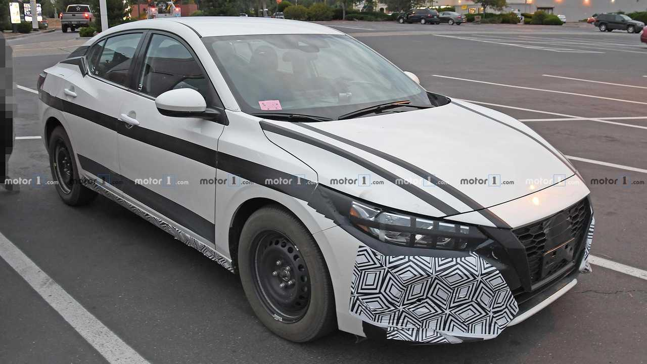 2021 Nissan Sentra Spied Wearing Little Camo, Unconcealed ...