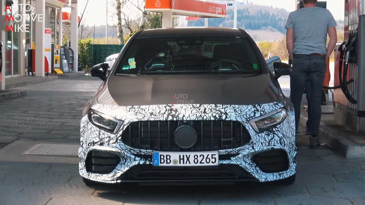 Mercedes-AMG A45 screenshot from spy video