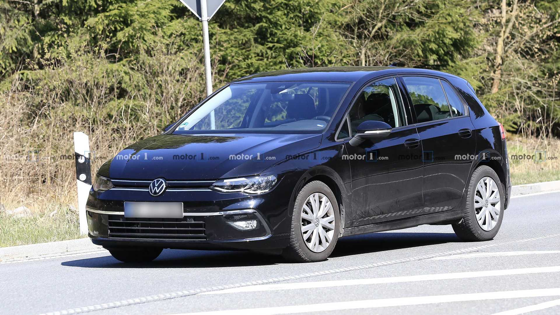 2020 VW Golf Caught With Very Little Camouflage