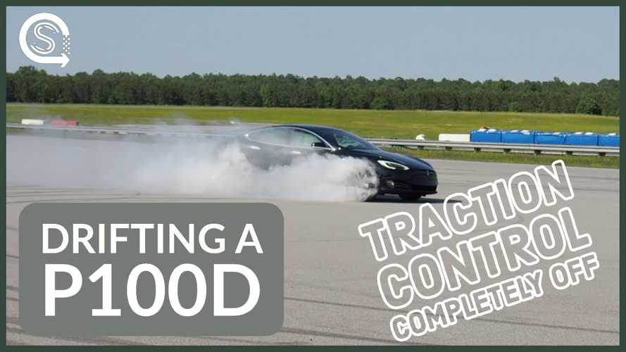 Tesla Model S P100D Drifting & Spinning Out On The Track: Video