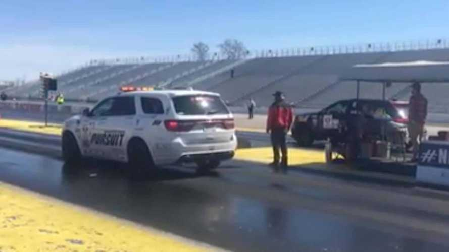 Watch 797-HP Dodge Durango Drag Race Jeep Grand Cherokee Trackhawk