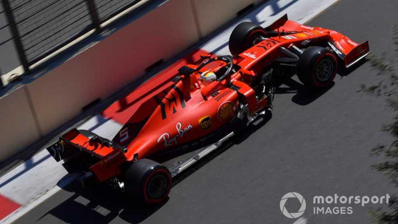 Sebastian Vettel at Azerbaijan GP 2019