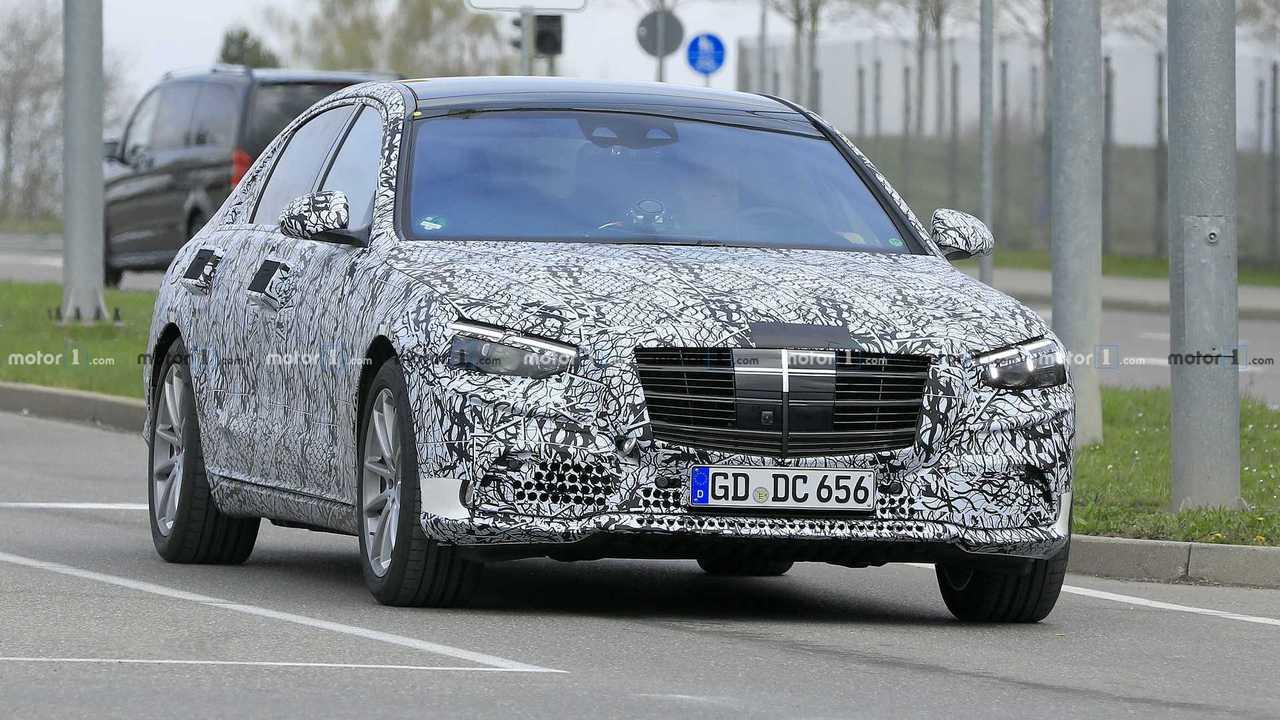 Фото шпиона 2021 Mercedes S-Class
