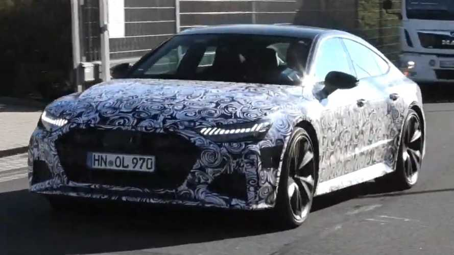 2020 Audi RS7 Sportback sounds mean during Nurburgring test
