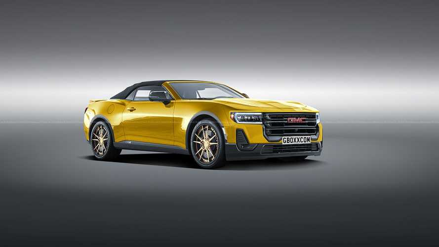 GMC sports car rendering