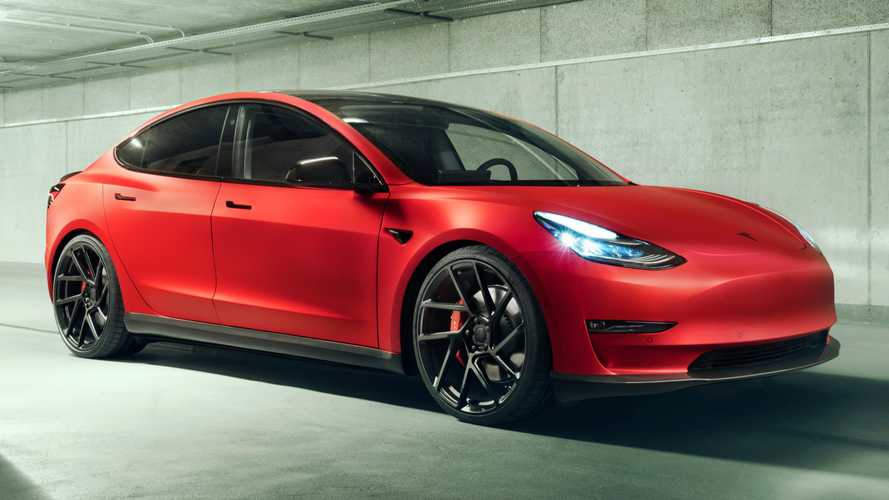 Humble Tesla Model 3 gets sporty attitude from high-end tuner