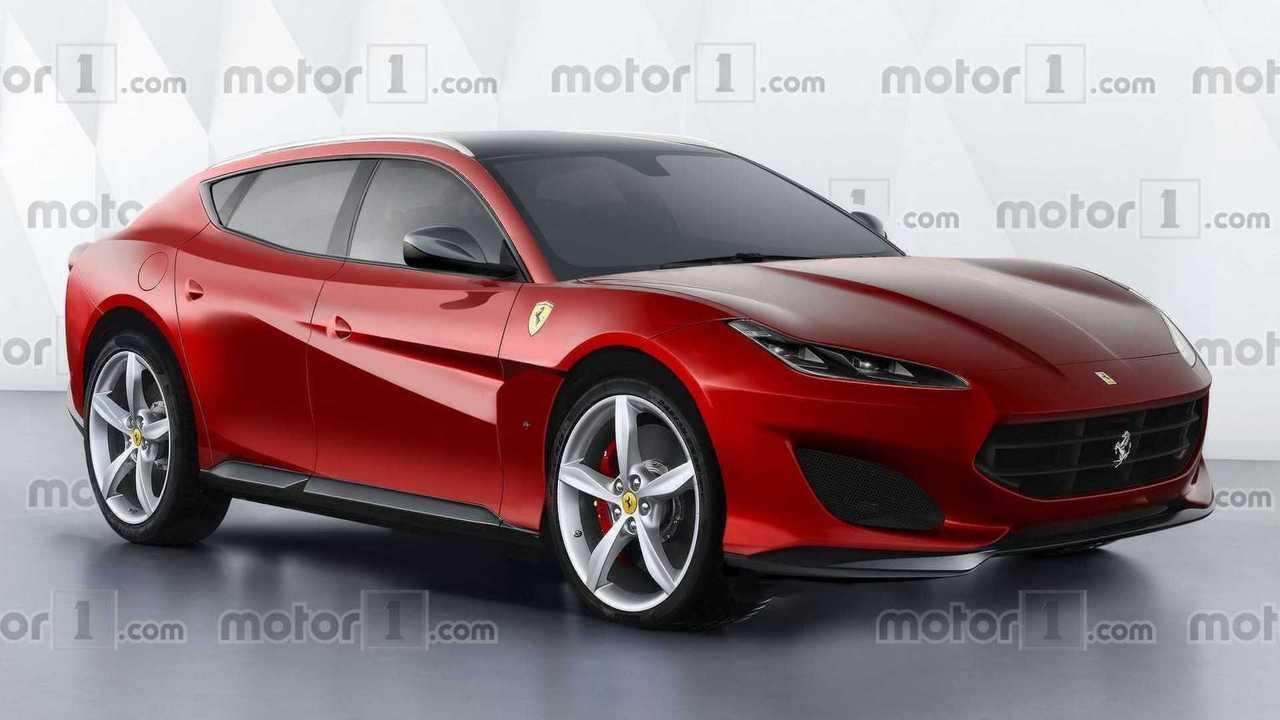 Ferrari Purosangue SUV rendering