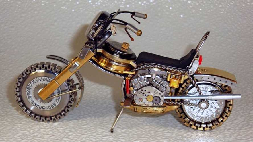 These Motorcycle Models Made From Watch Parts Are Amazing