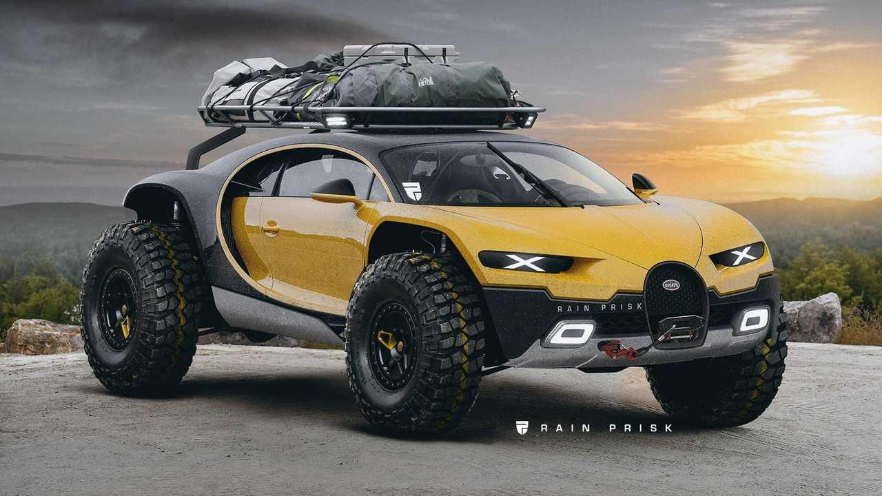 Bugatti Chiron off-road render