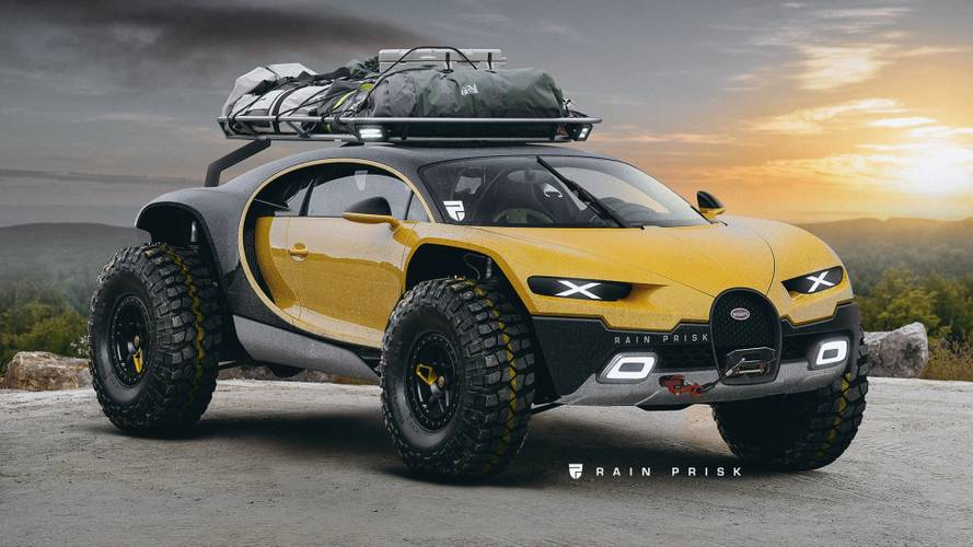 Bugatti Chiron off-road render