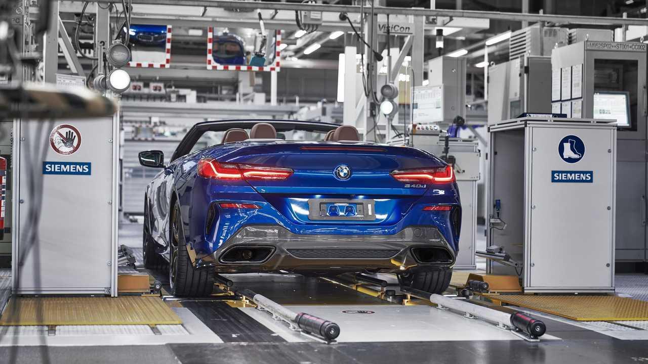BMW Série 8 cabriolet production