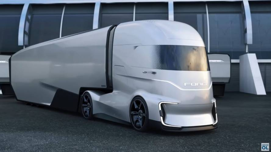 Ford Unveils Wild F-Vision Electric Semi Truck