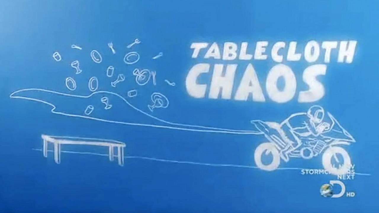 Mythbusters, a tablecloth and a Buell