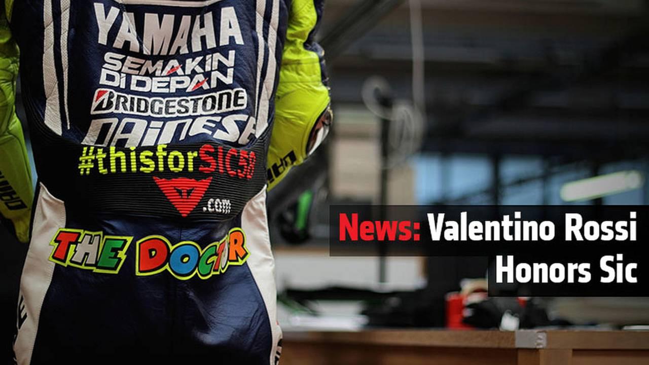 News: Valentino Rossi Honors Sic