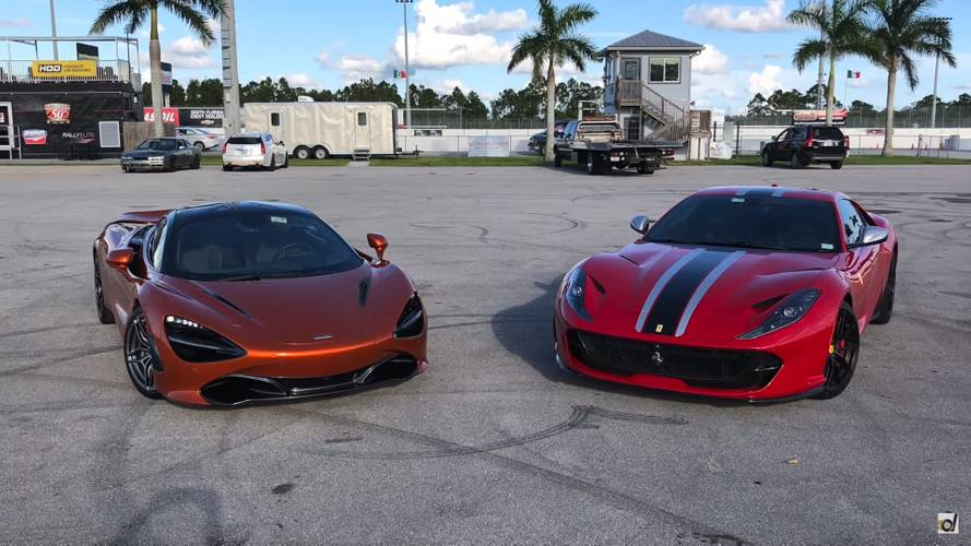 McLaren 720S vs. Ferrari 812 Superfast in hypercar drag battle