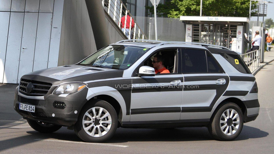 2012 Mercedes-Benz ML spied in silver with AMG styling package