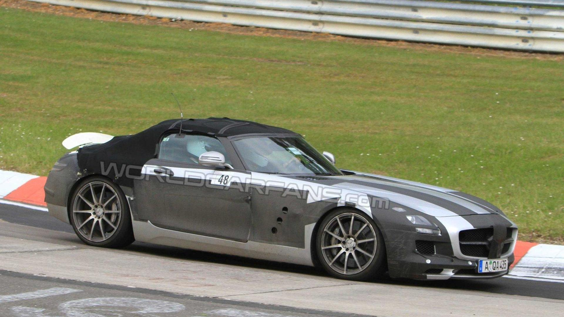 Mercedes benz sls amg roadster set for 2011 frankfurt debut publicscrutiny